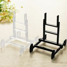 1x Plastic Easel Plate Art Crafts Photo Picture Frame Book Holder Display Stands