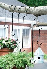6 PC SET ASSORTED SIZES HOOKS HANGERS PLANTS WINDCHIMES BIRD HOUSES FEEDERS