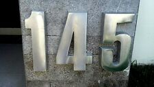 "12 Inch House Numbers 3D  High 1.2"" Thick, big aluminum 100% recycled Aluminum"