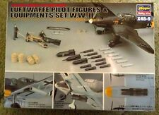 Hasegawa Luftwaffe Pilot Figures & Equip Set. WW2 1:48th scale. NEW