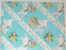 Gift wrap Wrapping Paper Easter Bunny Rabbit Eggs Basket 1993