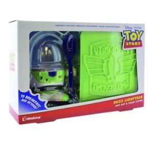 Buzz Lightyear Egg Cup Holder Toast Cutter Novelty Christmas Gift Set Breakfast
