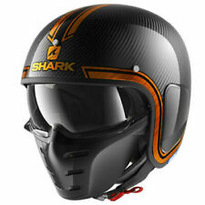 Shark casco moto motocicleta Drak Vinta-Carbono/Naranja Duo