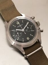 Lemania NOS chronograph, Ref 818 +40 Mm, Stainless Steel, Lemania 1872