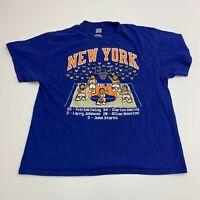 Hardwood Classics T-Shirt Mens XL Blue New York Knicks NBA Short Sleeve Casual