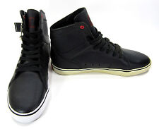 Radii Shoes Simple Leather Perforated Black/White Sneakers Size 8.5 EUR 42