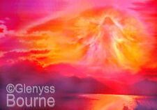 THE ANGEL of PROTECTION on CANVAS Spiritual Angel Art Painting by Glenyss Bourne
