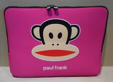 Paul Frank Bright Pink Neoprene Julius Monkey Laptop Sleeve Case Bag 14x10.5