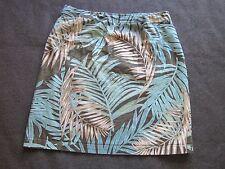 14P Skirt Petite Nine Tropical Hawaiian Floral Knee Length