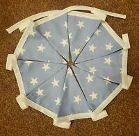 2 metres Handmade Baby Boy Blue Star Nursery Double Sided Bunting FREE P+P