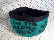 'I'm the Alpha Dog' Portable Water or Food Polyester Green Bowl New