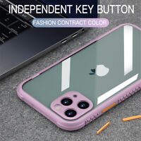 Funda Armadura Acrílica Suave Prueba Golpes para iPhone 12 Pro Max 11 XR X 8 7 6