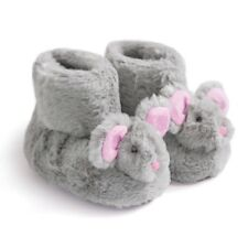 JoJo Maman Bebe Mouse Slipper Boots/Booties/Pram Shoes Grey 0-6 mths - BNWT