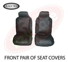 FORD FIESTA VAN (11+) FABRIC BLACK TRIM VAN SEAT COVERS 2 SINGLE 1+1