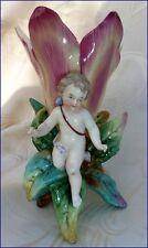 Ancienne Bouquetiére avec Angelot en Porcelaine KPM SCHEIBE-ALSBACH goût Meissen