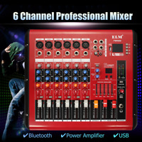 PMR606 USB 6 Channels Professional Bluetooth Stage Mixer DJ Power Amplifier New