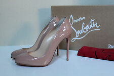 New sz 5 / 35 Christian Louboutin Dorissima Nude Patent Pointed Toe Pump Shoes