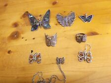 Silver, mostly Sterling Butterfly Jewelry: Rings, Earrings, Brooches, Pendant