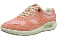 ECCO Women's Blush Coral Genuine Leather Trainers Sneakers - size UK 5.5 / EU 38
