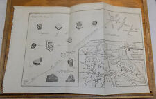 1756 Antique Print/Map///PAVING MOSIACS, & ROMAN ROADS TO DELGOVITIA, YORKSHIRE