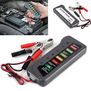 12V Car Van Battery Voltage Alternator Condition Tester 6 LED Digital Indicators
