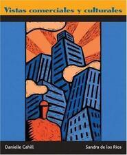 VISTAS COMERCIALES Y CULTURALES Spanish + AUDIO CD By Sandra De Los Rios NEW