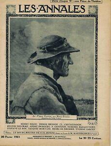 Les annales n°1965 du 20/02/1921 Géorgie Tatare Tiflis Gustave Le Bon