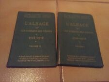 L'Alsace et les combats des Vosges – volumes 1 et 2