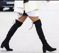 Stuart Weitzman Urban Over the Knee Black Suede Women's Boots Size 8.5M