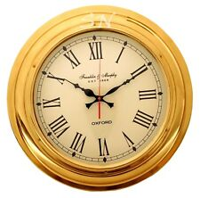"17"" Nautical Brass Ships Wall Clock made for Franklin & Murphy Beach House Decor"