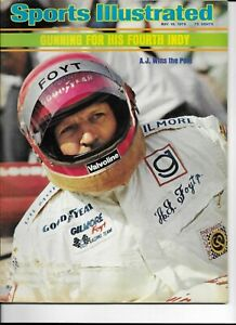Sports Illustrated May 19 1975 A.J. Hoyt Wins Pole Gunning for Fourth Indy VG+EX