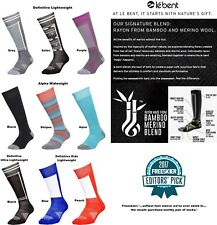 Le Bent Definitive Snowboard Bamboo and Merino Socks Black/white Large Clothing