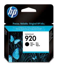 GENUINE HP HEWLETT PACKARD HP 920 BLACK INK CARTRIDGE CD971AE 2015 DATE