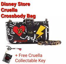 More details for genuine disney store cruella crossbody bag & free collectible cruella key
