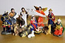 Christmas Nativity Set Scene Figures Polyresin Baby Jesus 13Piece Set Nacimiento