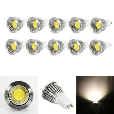 Lot10 GU10 6W Dimmable COB LED Spot Down Light Lamp 2800-3200K Warm White Bulb