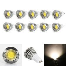 Lot10 GU10 6W Dimmable COB LED Spot Down Light Lamp 2800-3200K Warm White Bulb