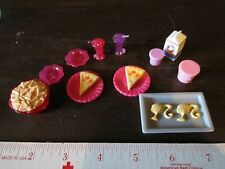 Barbie Replacement parts pizza plates chip tray cup bowl container soda pop