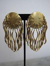Rare Yohai Designer Earrings- Signed Vintage 1980's Dangle/Drop-Sun/Sunburst USA