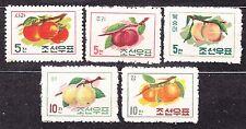 KOREA 1961 mint(*) SC#324/28 set, Fruits.