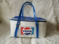 Rare!!! Vintage Vinyl Pepsi 6 Pack Carrier Picnic Lunch Bag Insulated Cooler