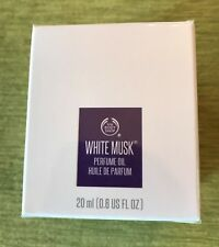 THE BODY SHOP WHITE MUSK PERFUME OIL, 0.6 fl oz/ 20 ml, NEW IN SEALED BOX