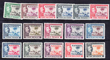 GAMBIA George VI 1938 SG150/61 set of 16 elephants - mounted mint catalogue £160