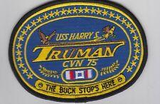 USS Harrys Truman CVN 75 The Buck Stops Here BCPatch Cat C7112 No