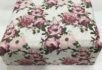 Flannel Sheet Set KING Size 4 Piece 100% Cotton Heavyweight Deep Pocket  Floral