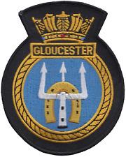 HMS Gloucester Royal Navy RN Surface Fleet Crest MOD Embroidered Patch