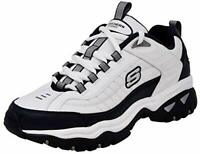 Skechers Mens Energy-After Burn Low Top Lace Up, White/Navy Blue, Size 11.5 LIgJ