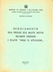 Regolamento profilassi malattie infettive Treni-Ferrovie dello Stato-1971-F.S.