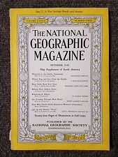 National Geographic Magazine October 1942 No Map,  Wartime in Pacific, New Delhi
