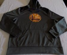 Golden State Warriors Pullover Hoodie Large Gray Bridge Logo Majestic NBA